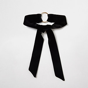 Black velvet ring multi-purpose choker
