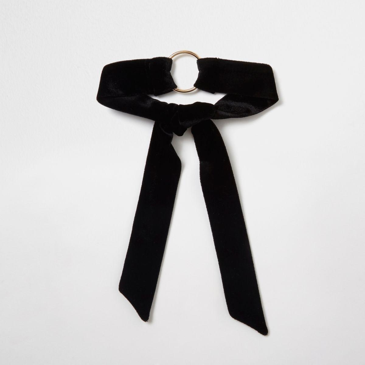 Black velvet ring multi-purpose choker