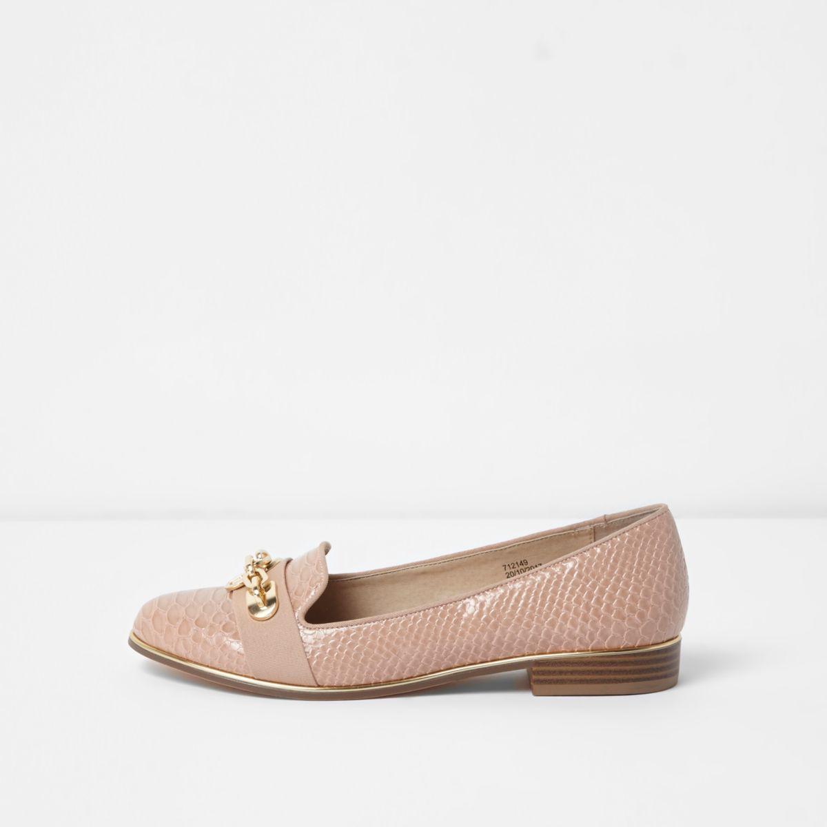 Loafer in Krokooptik mit weiter Passform