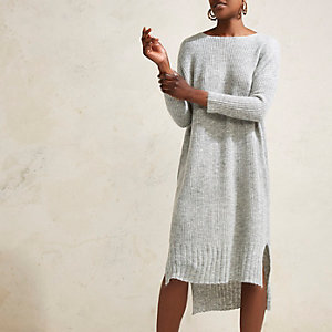 Grey RI Studio maxi jumper knit dress