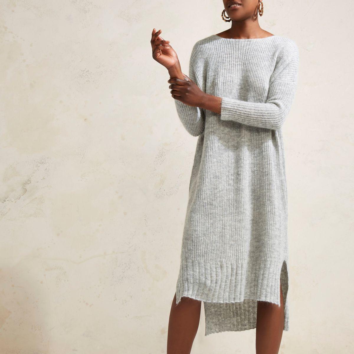 Grey RI Studio maxi sweater knit dress