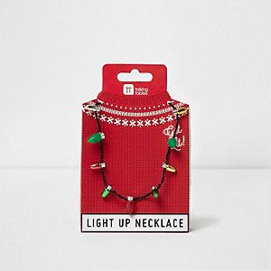 Collier lumières de Noël