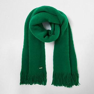 Écharpe façon couverture verte
