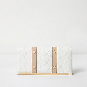 White RI embossed travel organiser