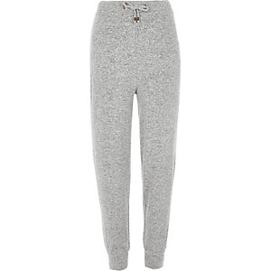 Light grey cosy lounge joggers