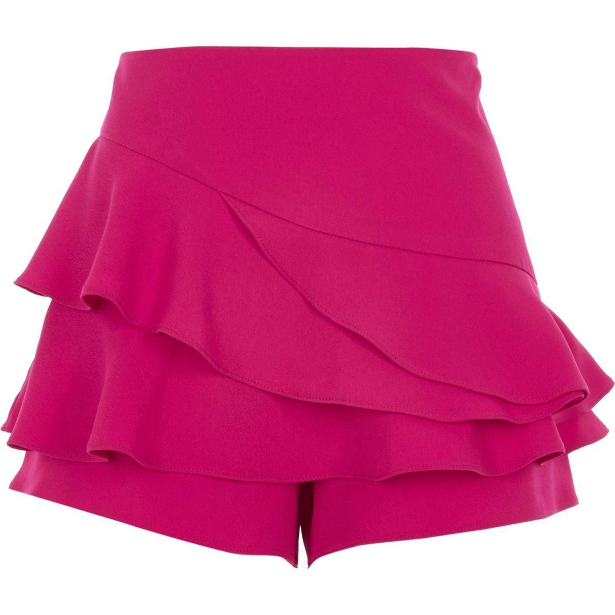 Pinker Hosenrock mit Rüschen
