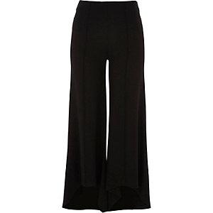 Pantalon évasé en jersey noir