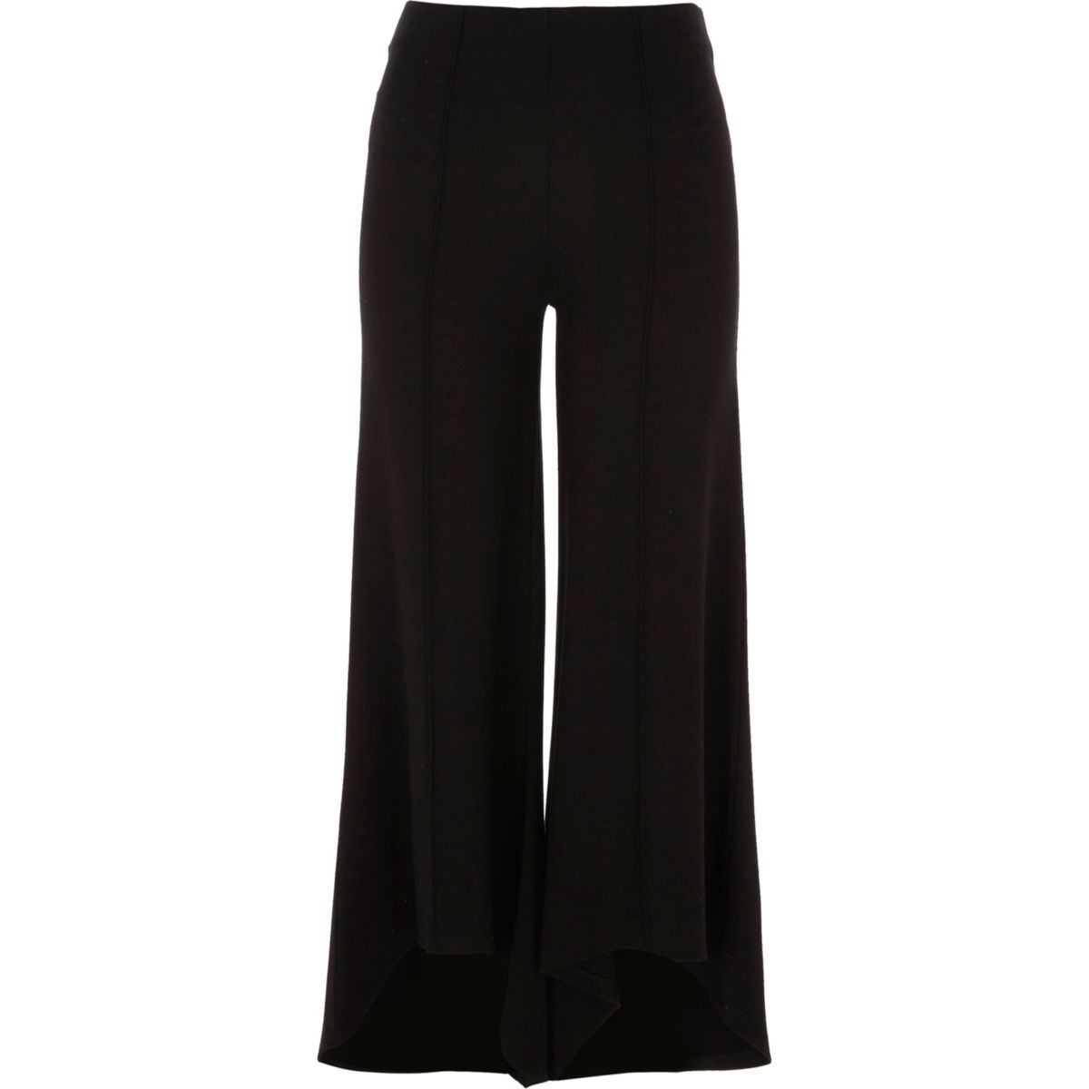 Black flared jersey pants