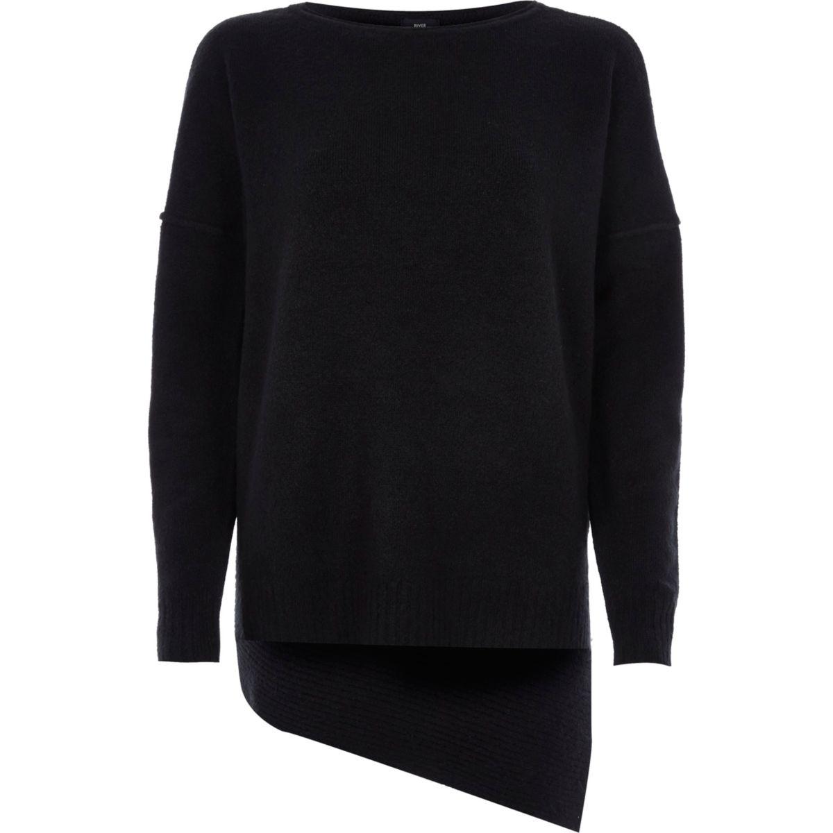 Black asymmetric jumper