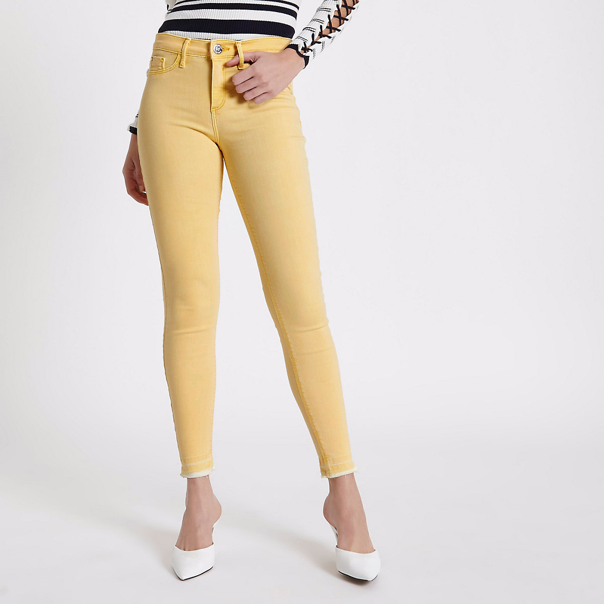 Yellow Molly released hem jeggings
