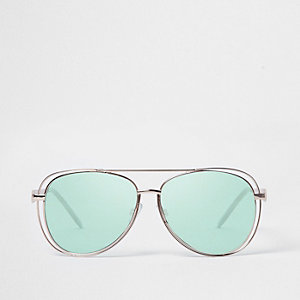 Pilotensonnenbrille mit grünen Gläsern