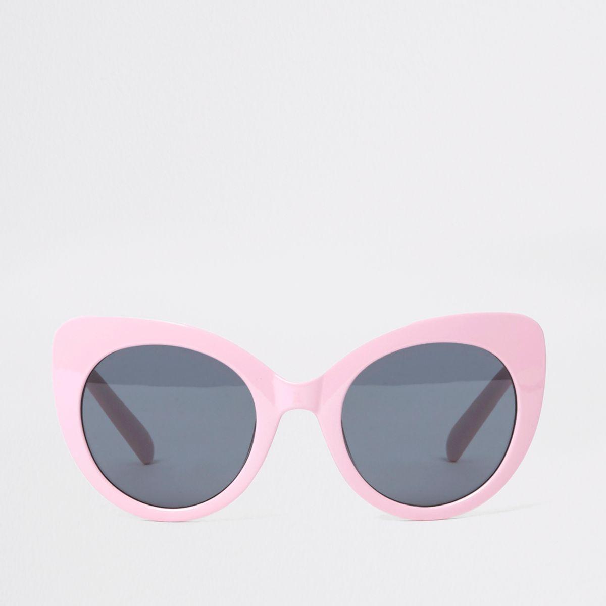 Pink Oversized Plastic Cat Eye Sunglasses by River Island