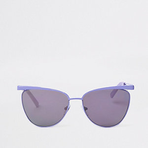 Light purple cat eye sunglasses