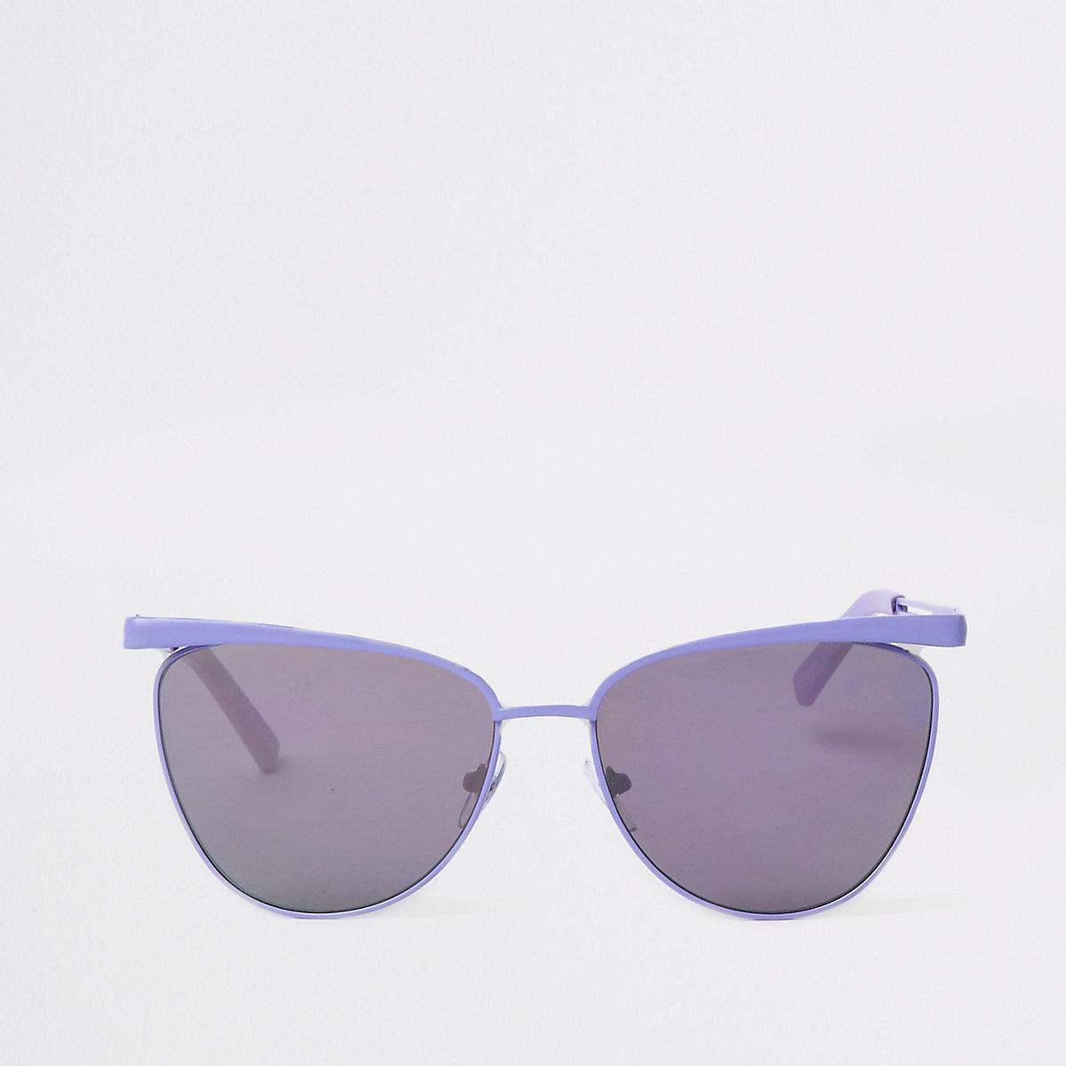 Light purple cat eye sunglasses