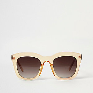Dark yellow clear glam sunglasses