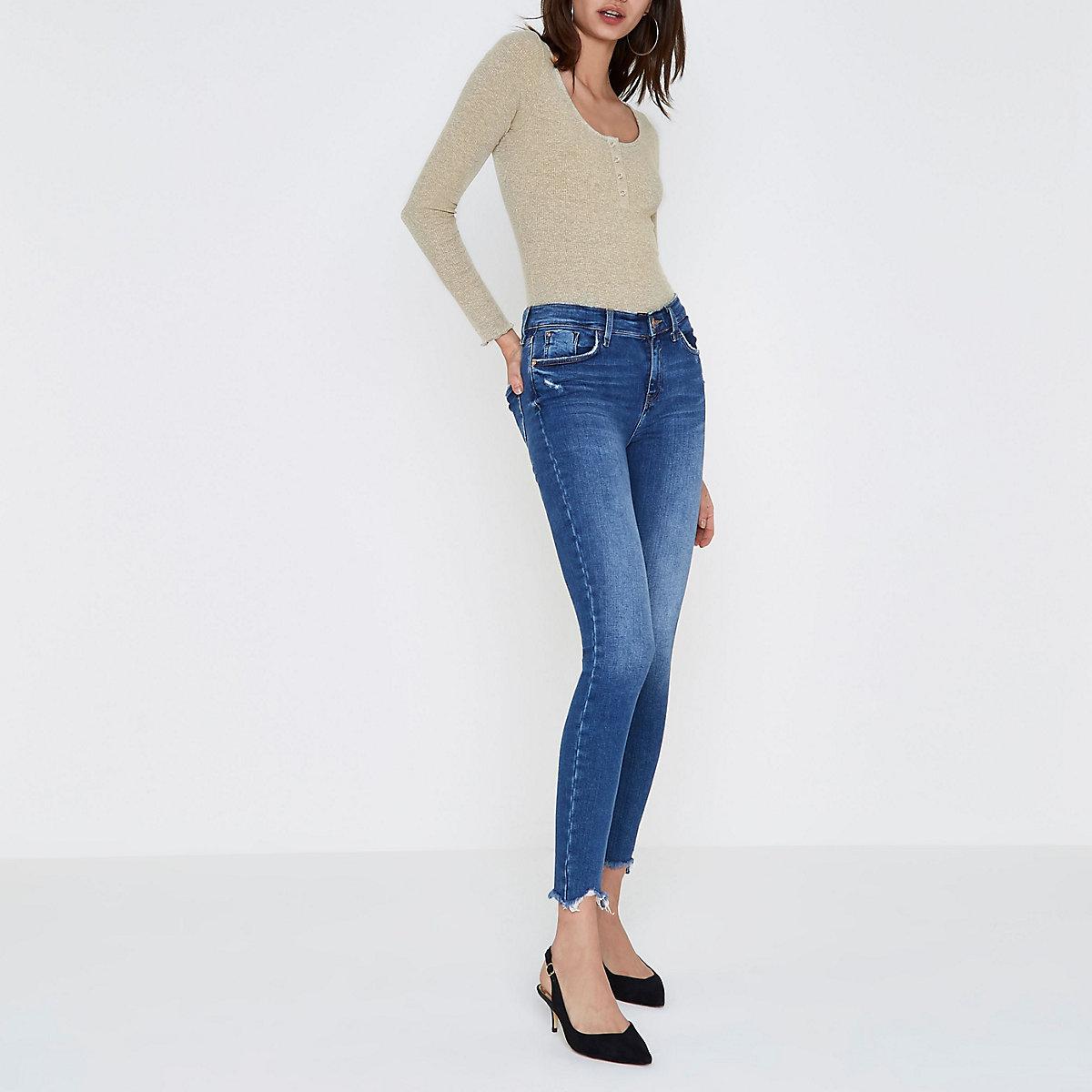 c545871926 Beige rib scoop neck long sleeve bodysuit - Bodysuits - Tops - women