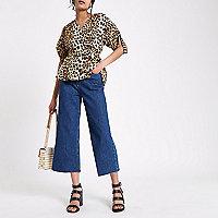 Alexa – Dunkelblaue Jeans mit weitem Bein