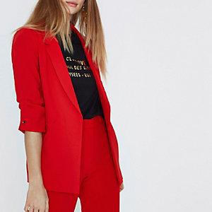 Red bar cuff blazer