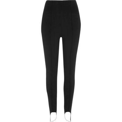River Island Womens Black stirrup leggings