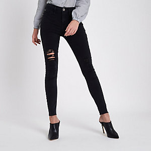 Black washed Molly jeggings