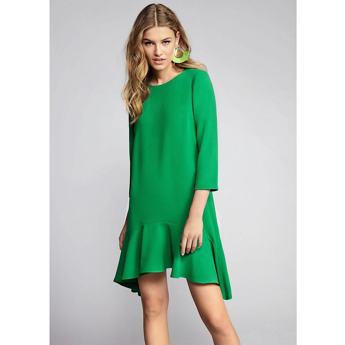 Grünes Swing-Kleid mit Rüschensaum - Kleider - Sale - Damen