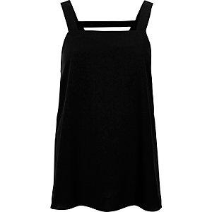 Black wide strap vest top