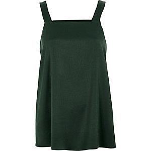 Dark green wide strap vest