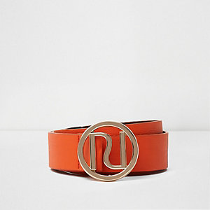 Orange RI branded buckle belt