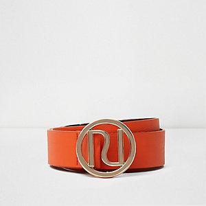 Oranje riem met gesp met RI-logo