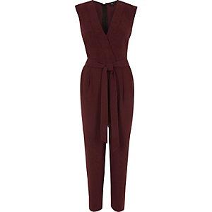 Bordeauxrode tailored jumpsuit