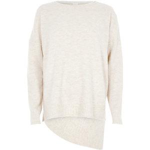 Beige asymmetric sweater