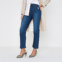 Bella – Straight Leg Jeans im Used-Look