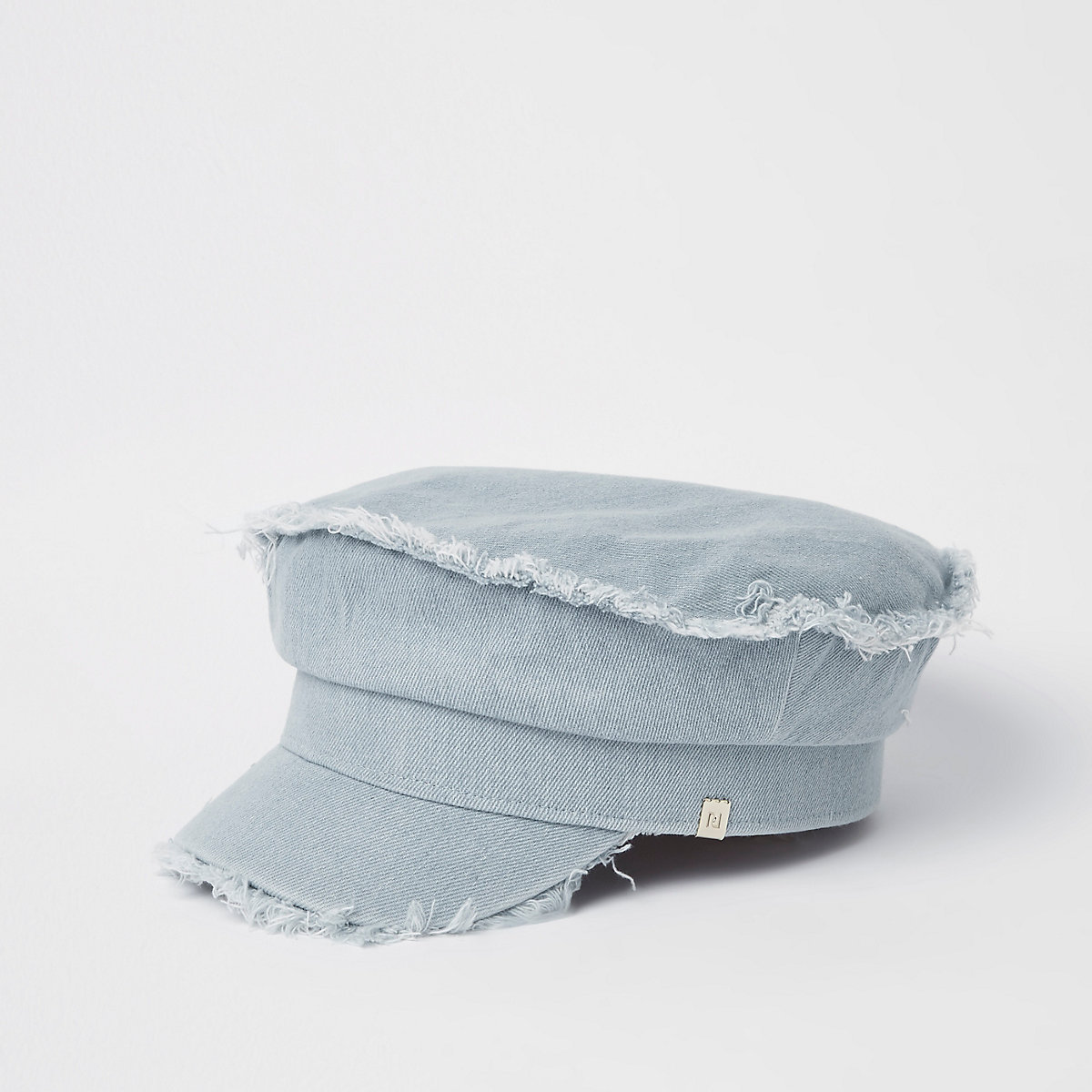 Light blue denim baker boy hat