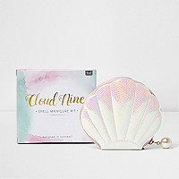 Cloud nine manicureset in de vorm van een schelp