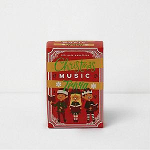 Cartes de questions et réponses musiques de Noël