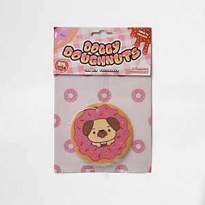 Dog and doughnut car air freshener