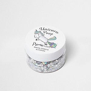 Unicorn Poop – Mélange de paillettes argentées
