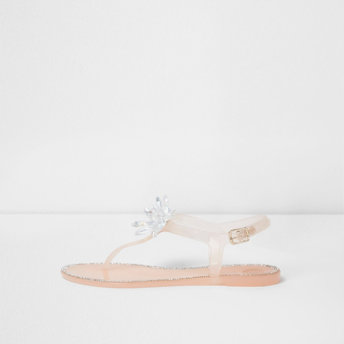 Pink jelly jewel flower sandals