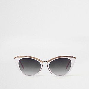 Graue Cateye-Sonnenbrille