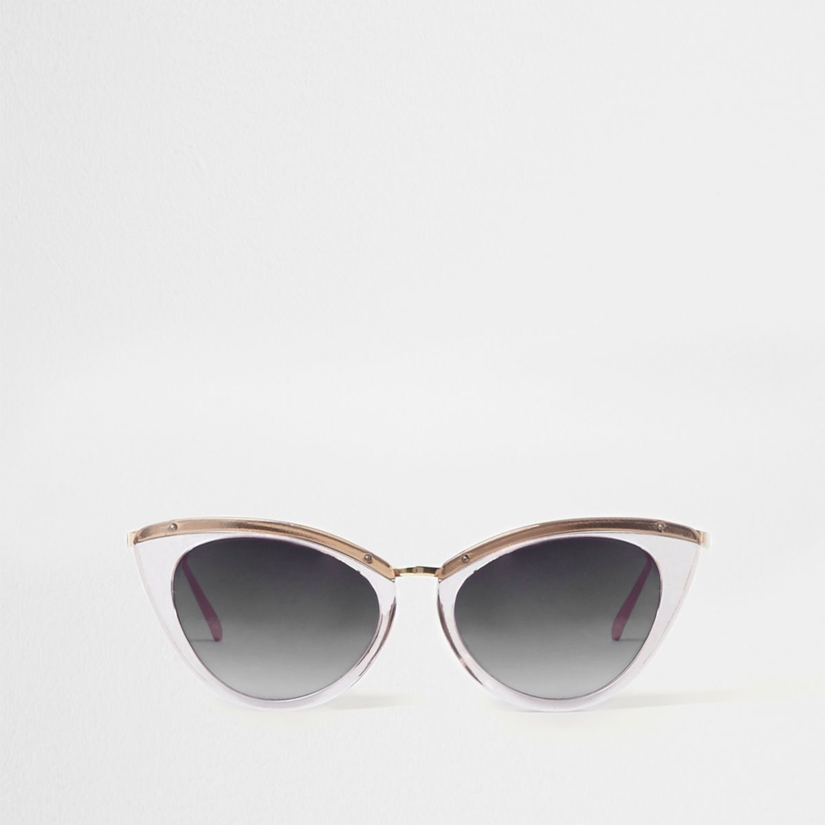 Grey cat eye smoke lens sunglasses