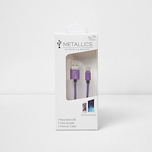 Metallics purple charging cable
