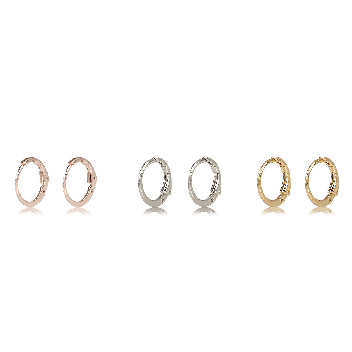 Mixed small hoop earring multipack