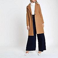 Manteau marron clair ajusté