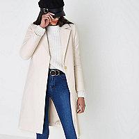 Cream tailored coat