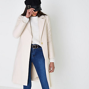 Cream tailored coat