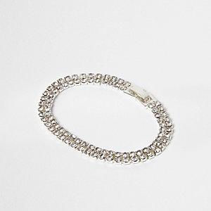 Zilverkleurige diamanté-armband