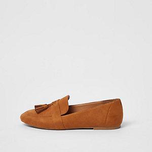 Hellbrauen Loafer mit Quaste