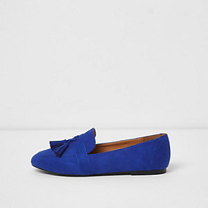 Cobalt blue tassel loafers