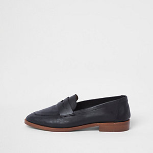 Sian 8991 – Schwarze Loafer aus Leder