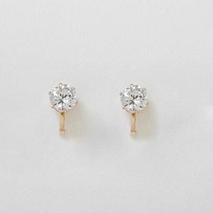 Gold tone rhinestone clip on earrings
